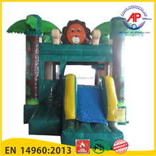 Mini Zoo Inflatable Combo bouncer slide for Toddler