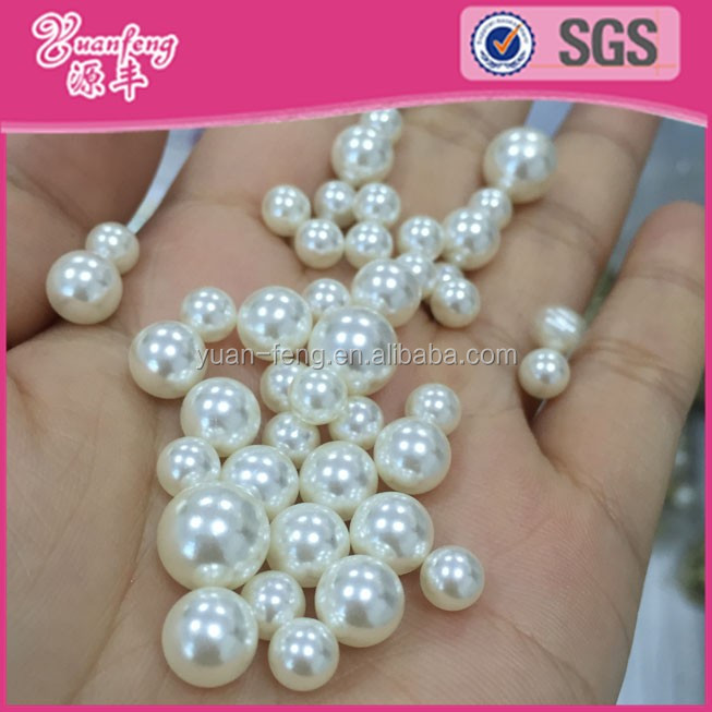 Wholesale Loose Round Plastic No Hole Pearl