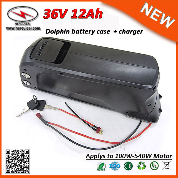 Greenworks Electric Bike Dolphin Battery Case 36V 12Ah 18650 Lithium Battery Pack for Ebike 500W