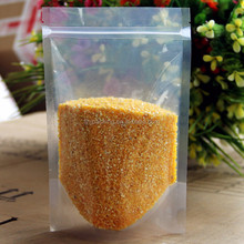 health and safety Front Transparent Resealable Zipper Poly Plastic Bag/Doypack Stand up pouch with zipper for food
