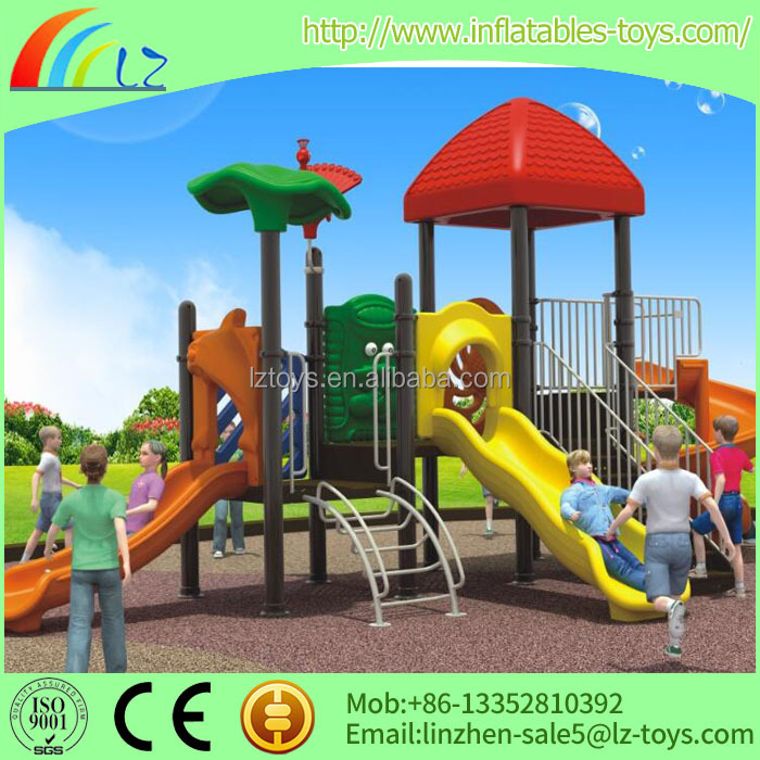 school outdoor playground, LZ-H1221 plastic fort playground equipment for special needs children