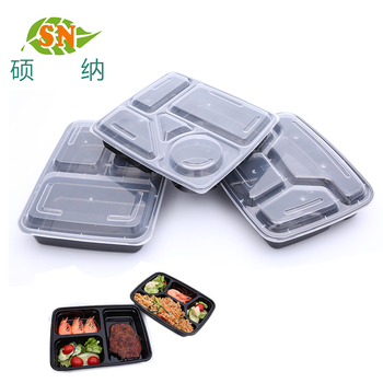 4 compartment disposable food lunch box 5 compartment