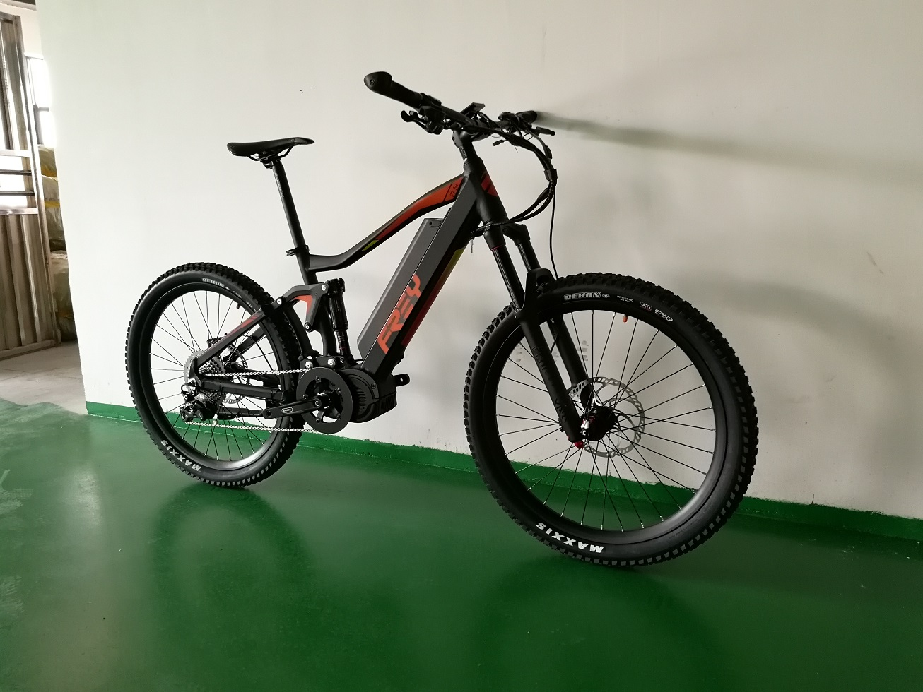 FREY AM1000 full suspension 160mm travel electric mountain bicycle 1000W mid drive motor system