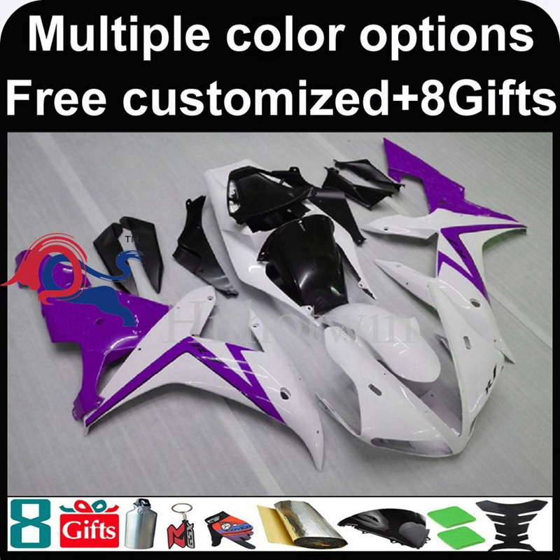 purple white motorcycle cowl for Yamaha YZF-<strong>R1</strong> 2002-2003 <strong>02</strong> <strong>03</strong> YZFR1 2002 2003 <strong>02</strong>-<strong>03</strong> ABS Plastic Fairing