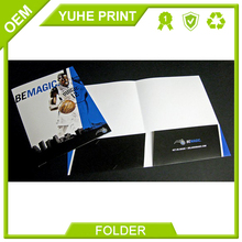 Cut price good quality in customized size thick paper CMYK printing color manila office folder