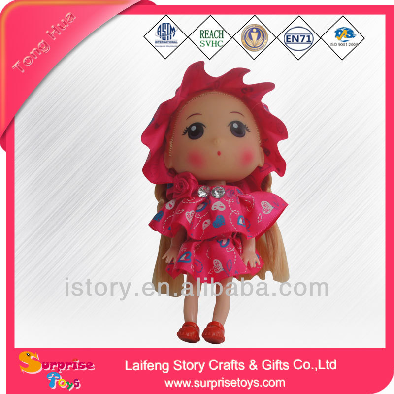 plastic small/mini/inch craft dolls