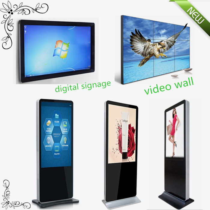 50 inch android wifi network internet standing digital signage player advertising player with USB