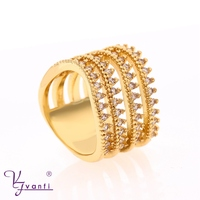 High quality fashion jewelry 18k gold color saudi arabia finger ring designs for girls