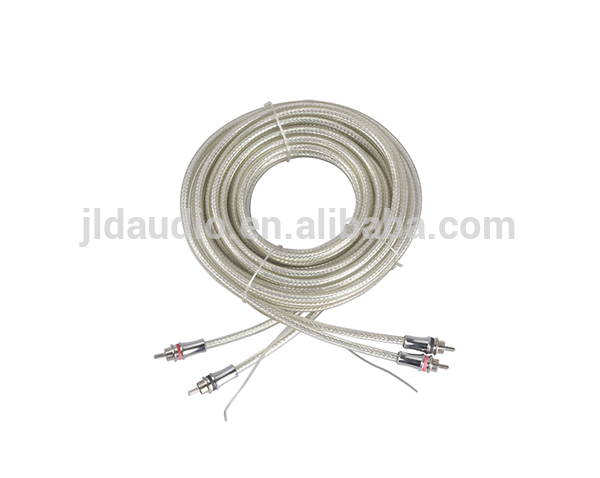 5m cable 2 cores rca cable Silver Plated tin copper RCA wire cables for subwoofer