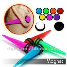 Wholesale Acrylic UV Fake Ear Tapers Magnet Plugs