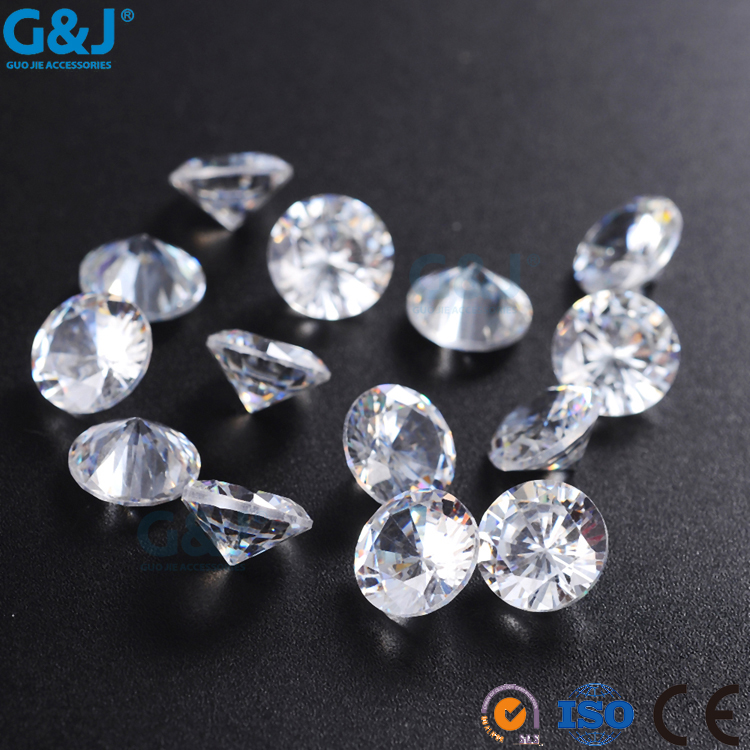 guojie brand best quality for nail Round Shape synthetic diamond acrylic Resin Stone