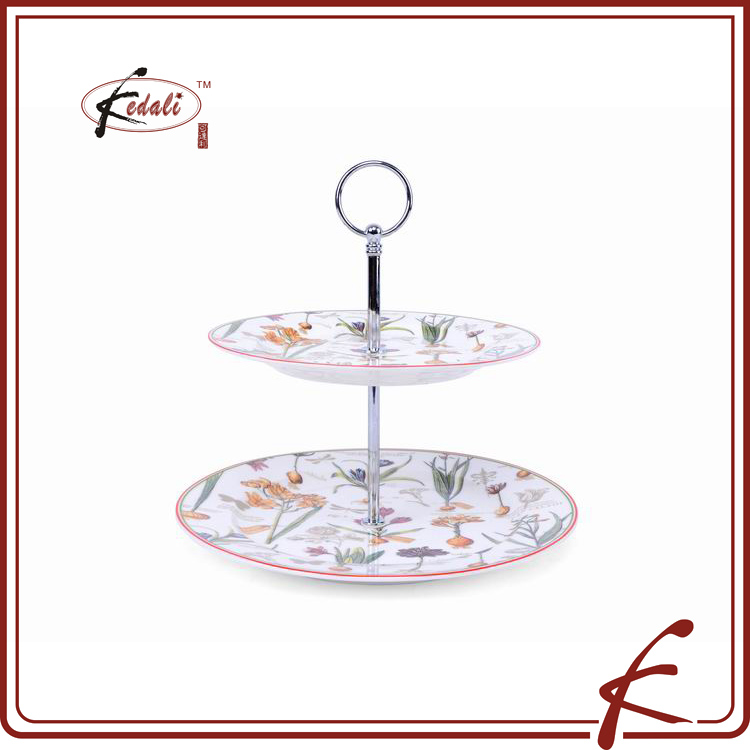 ceramic cake stand wedding, 2 tier cake stand for dinnerware