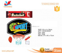 Hot sport toy Plastic mini basketball toy inflatable basketball hoop for kids