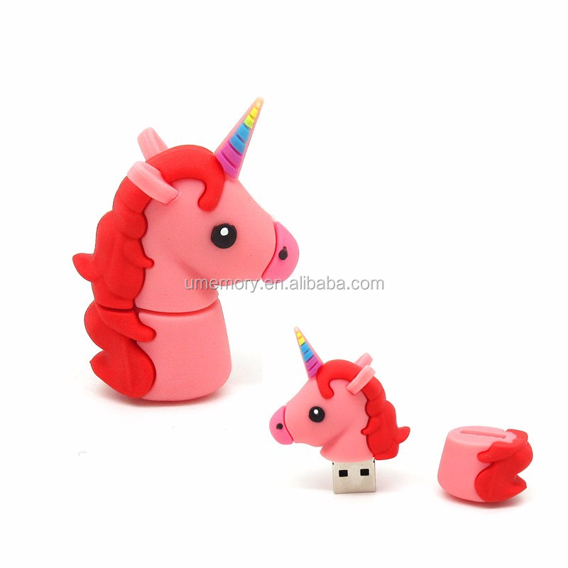 Real Capacity 2GB 4GB 8GB 16GB 32GB 64GB Unicorn Shape Custom Bulk 1GB USB Flash Drive