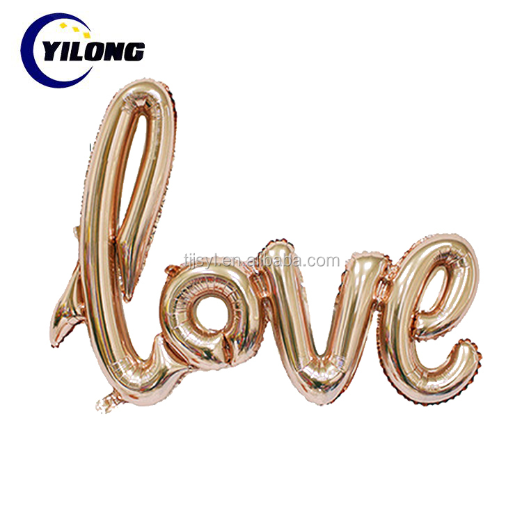 "18"" Decorate helium gas love heart foil balloon"
