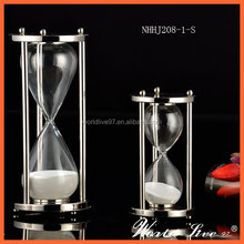 NHHJ208-1-S High Quality For Hot Product Art craft delicate metal hourglass decorative sand timer