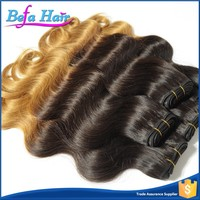 Long Lasting Tangle Free sew in human brazilian ombre weave hair