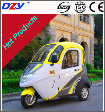 2016 new cheap 3 wheeler closed tricycle electric car for passenger with canopy trishaw pedicab