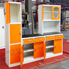 Household furniture prefab metal steel kitchen cabinet carcass made in China