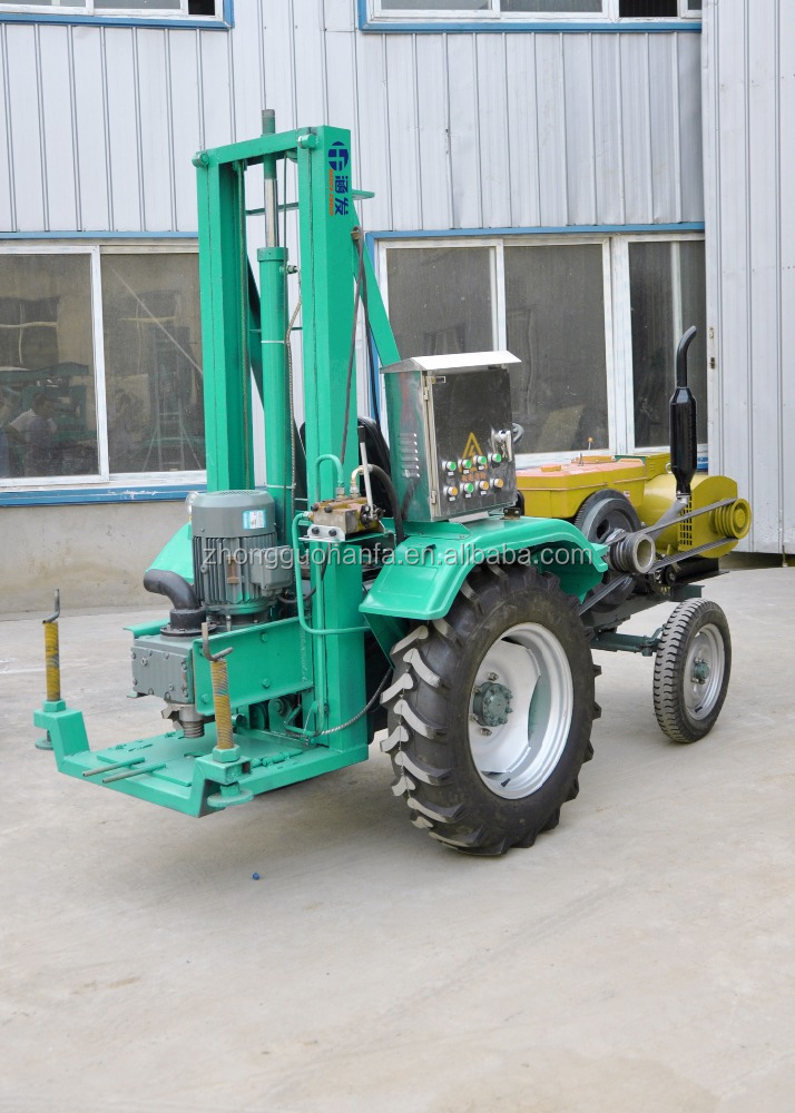 water well drilling equipment portable drilling rig, HF100T tractor mounted water well drilling rig
