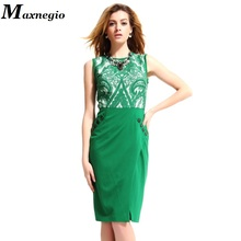 Maxnegio Brand Original Design Women Fashion New Style Sleeveless Slim Knee-length Ladies Office Wear Pencil Dresses