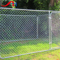 Cheap Large Metal chain link Dog house Runs fence
