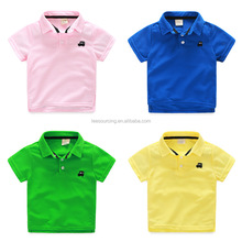 Kids clothes short sleeve baby boy cute couple shirt design polo t shirt