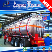 3 axles insulated Aluminium alloy milk edible oil tank tanker semi trailer for sale