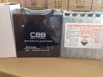 CBB 12V14AH Motorcycle Battery With Acid Pack
