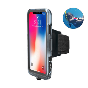 Military Plastic Small Cell Mobile I IP68 Hard Water Proof Waterproof Phone Case For Iphone X 8 7 6