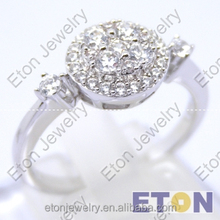 925 sterling silver Braided Wedding Rings Circular zircon ring for women