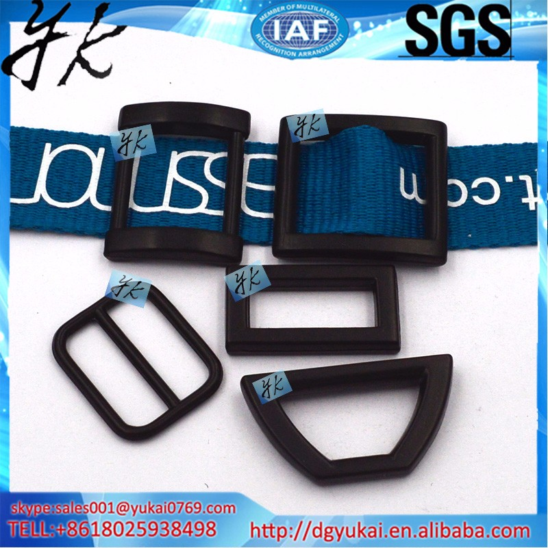 Yukai metal adjustable tri-glide buckle, metal suspender adjuster buckle, triglide webbing slides metal strap belt buckles