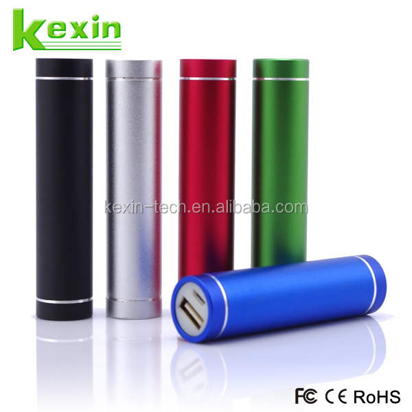 Universal Cylinder Mini Power Bank 2200mah Portable Charger for Mobile Phone