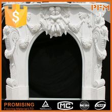 china white marble fireplace cast iron grand fireplace mantel