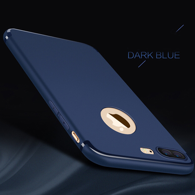 DFIFAN 2017 New Design Matte Black Soft TPU Phone Case For iphone 8 , For iphone 7 7 plus Case Plastic Cover