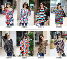 latest design wholesale winter fashion printed plus size women blouse ,Korea loose causal women clothes #OCW221