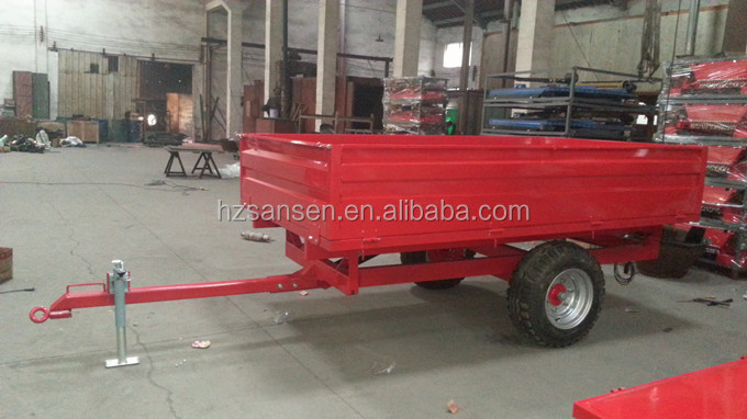 tractor hydraulic dump trailer small farm trailer box trailer for sale with CE