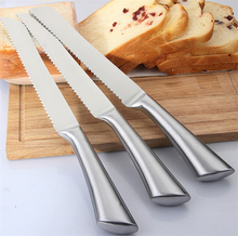 Amazon Supply Classic Stainless Steel 8'' Serrated Cake Knife Kitchen Bread Knife