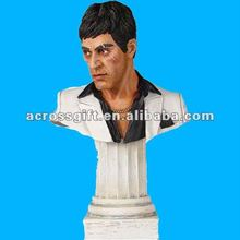 Modern scarface resin bust statue