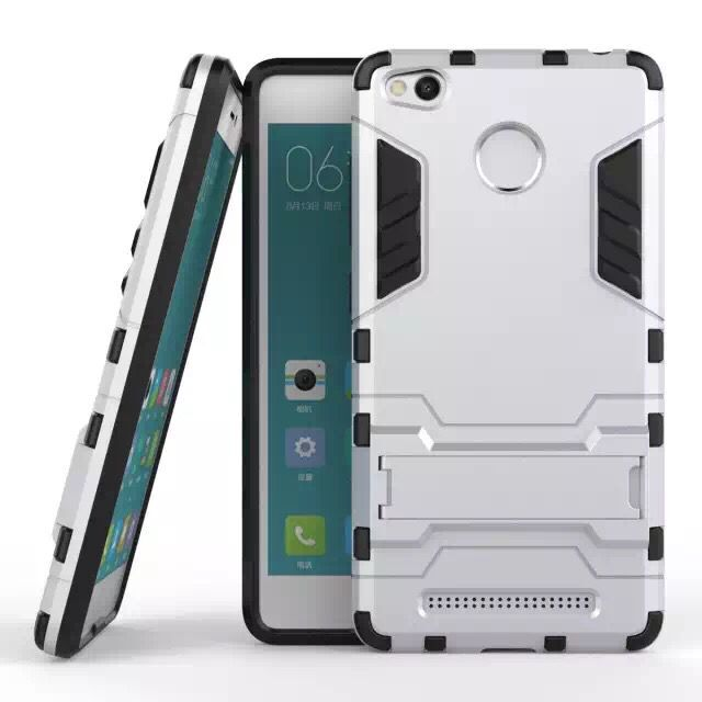 Guangzhou Wholesale Fast <strong>Delivery</strong> 2 in 1 Iron Bear TPU+PC Back Cover For Redmi 3 Pro With Kickstand Hard Rubber Armor Case