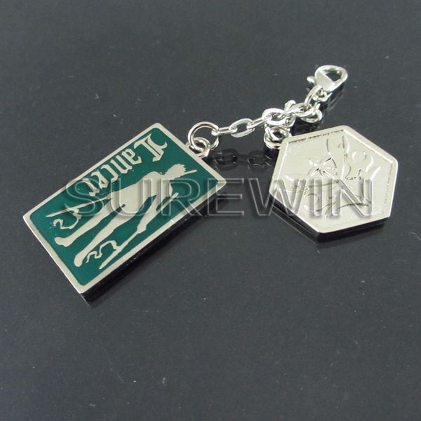 custom die casting engraving metal keychain any color allowed