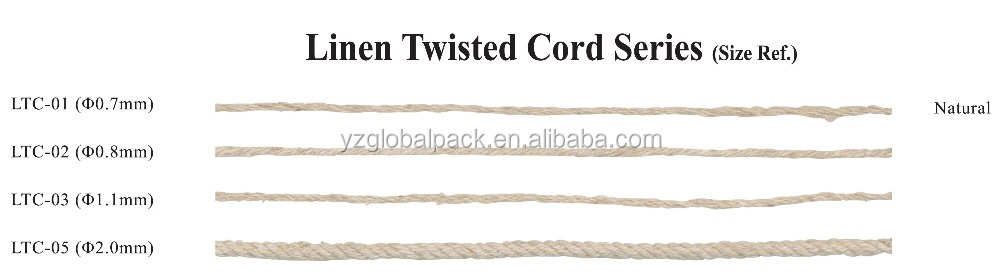 Natural Colour Linen Twisted Cord