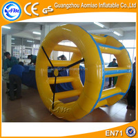 Funny water games inflatable water wheel, water roller,inflatable roller orb/ ball