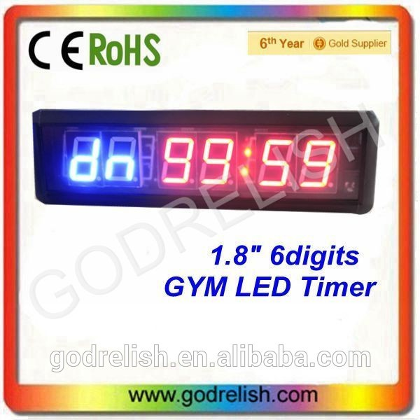 New design alibaba mini 4 digit led hours countup clock display with CE ROHS UL