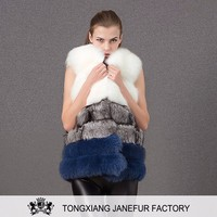 Wholesale new fashion OEM factory real fox fur vest coat