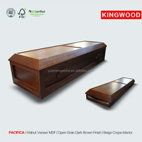 PACIFICA caskets made in china with casket interior decoration