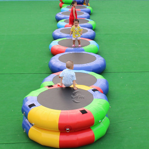0.9mm PVC Body Building Inflatable Fitness Wheels Mat For Gymnastics Training