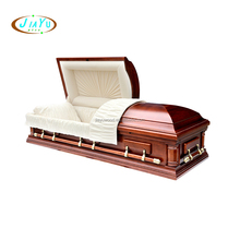 American style velvet interior funeral quality cheap wooden caskets and coffins