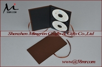 High Quality Fabric Linen Cloth Velvet CD DVD Book Holder with Ribbon