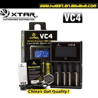 For li-ion 18650/18350 Ni-MH/Ni-CD battery charger xtar VC4 4 slot smart battery charger
